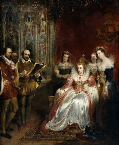 Elizabeth I and William Shakespeare ~ read more about their relationship http://www.shakespeare-online.com/biography/patronelizabeth.html