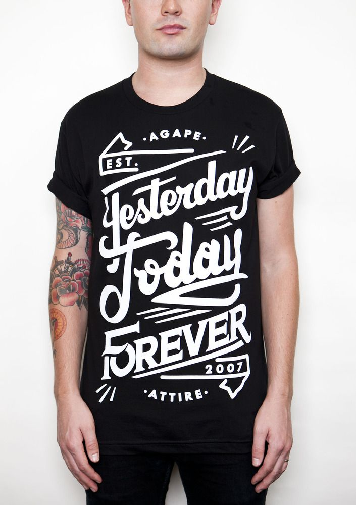"""""""Yesterday, Today, Forever"""" Agape Attire http://www.agapeattire.com/product/yesterday-today-forever-on-black-shirt"""