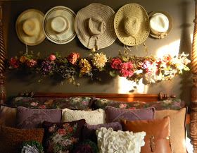 The past few homes I've lived in, I have had high ceilings and created an arch of purple transferware platters over my bed that extends o...