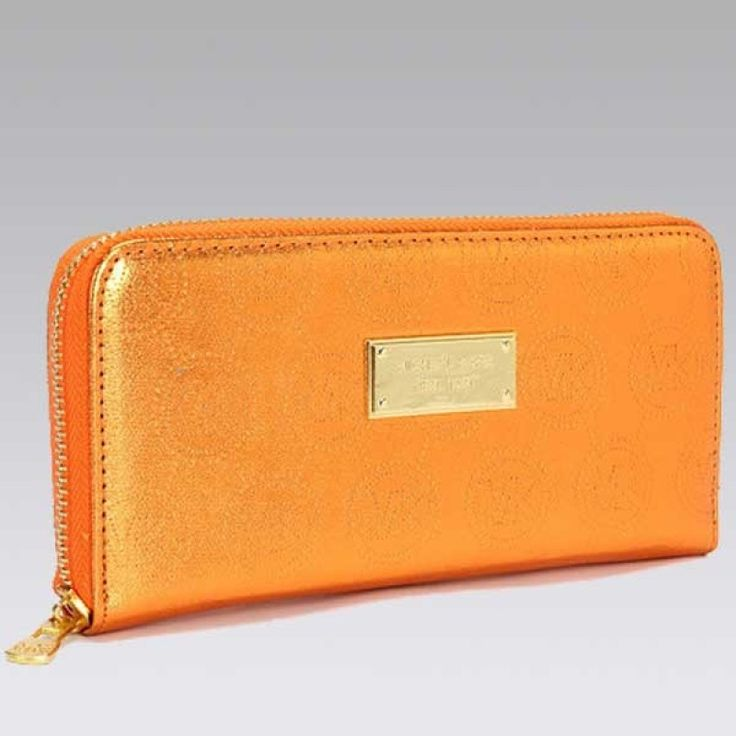 MICHAEL Michael Kors Jet Set Continental Orange Wallet