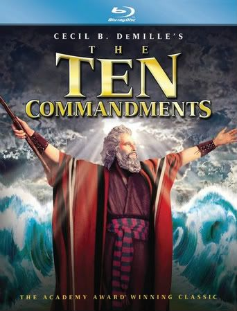 """The Ten Commandments"" - Christian Movie/Film on Blu-rayy with Charlton Heston. Check out Christian Film Database for more info - http://www.christianfilmdatabase.com/review/the-ten-commandments-55th-anniversary/"