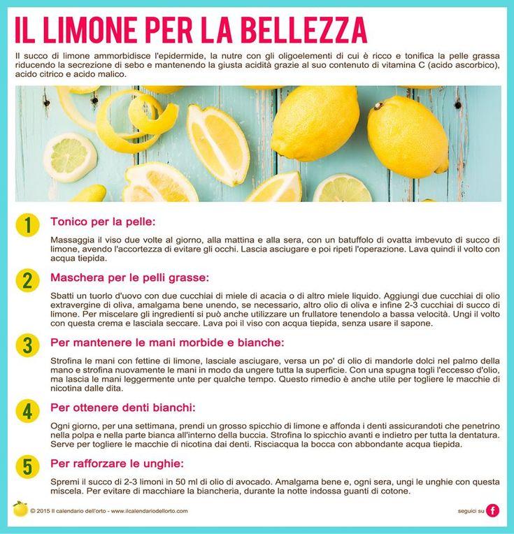 Il limone per la bellezza