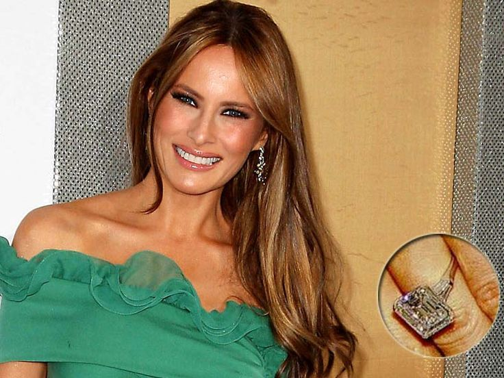 Melania Trump engagement ring is one of the engagement ring has a unique design. In addition, the ring also looks so beautiful and elegant.