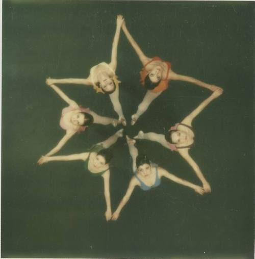 Dancers photographed from above with a Polaroid SX-70 camera, 1972. Co Rentmeester. Instant Karma: Edwin Land and His 'Magic Camera,' the Polaroid SX-70. Life archives. 1972.