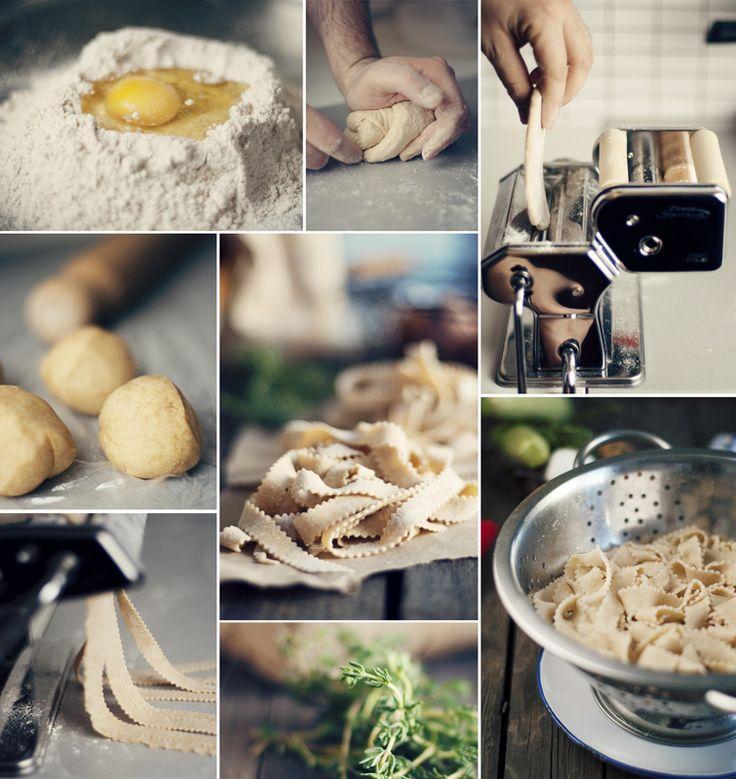 Homemade Tagliatelle pasta recipe