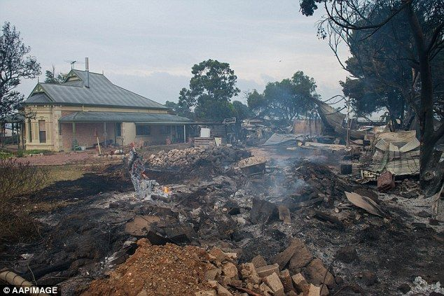 A shed was destroyed in Freeling but the owners were lucky to have their house spared on W...