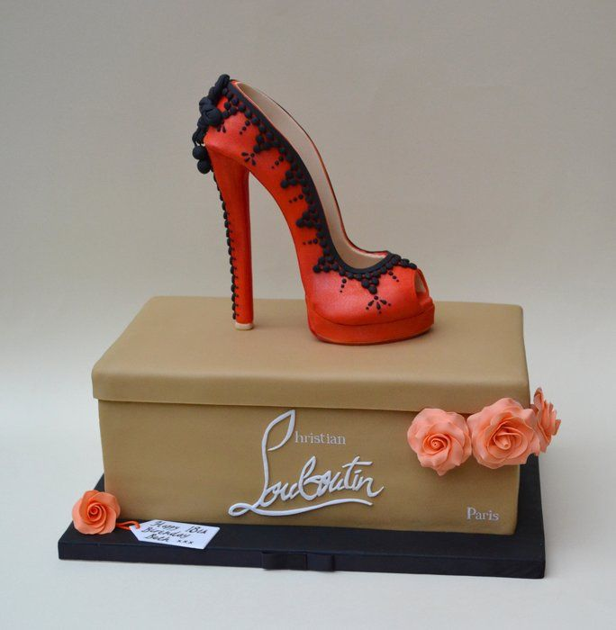 Birthday Cake Designs Shoes : 25+ best ideas about Shoe Cakes on Pinterest Fondant ...
