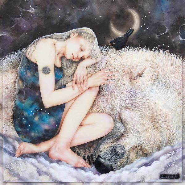 The Snow Queen a Unique Edition by Kerry Darlington #icequeen #polarbear #blackbirds #sleep #dreaming
