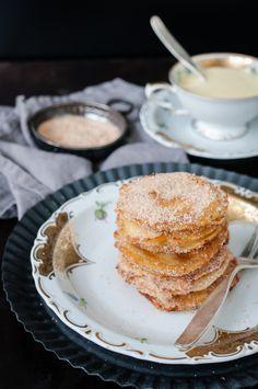 Apfelküchle mit Vanillesauce von Trickytine auf Raspberrysue
