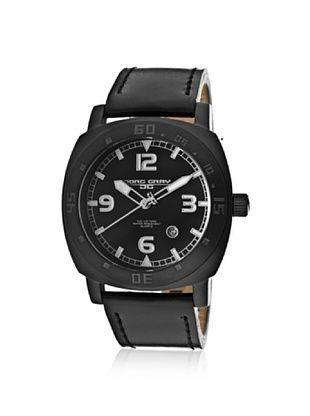 79% OFF Jorg Gray Men's JG1020-11 Black Leather Watch