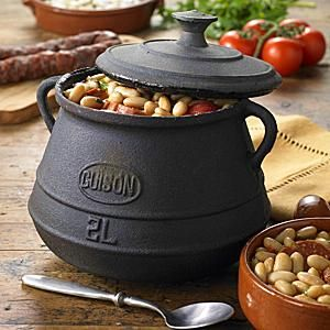 This rustic iron olla, or stew pot, is the perfect way to prepare the traditional cocidos and stews of Spain. Made of cast iron. LaTienda offers the best of Spain shipped direct to your home - fine foods, wine, ceramics, and more. Free catalog.