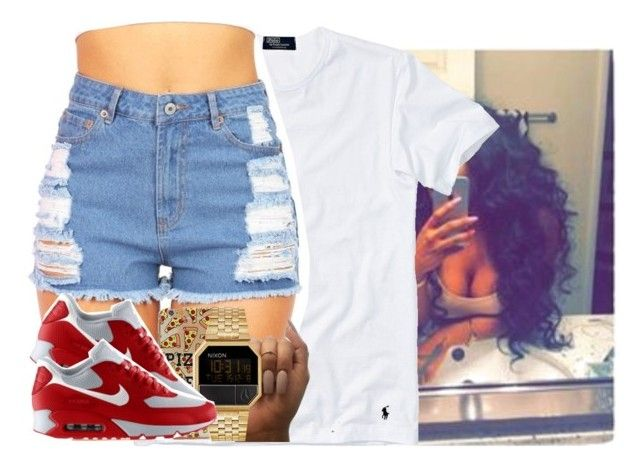 """""""Get At Mee . """" by jayysicklyy ❤ liked on Polyvore featuring Polo Ralph Lauren, Nixon and NIKE"""