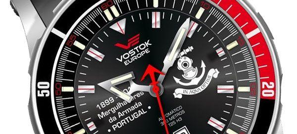 Relógio de mergulho em edição especial comemorativa dos 114 anos dos Mergulhadores da Armada Portuguesa