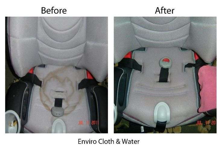 Car Seat stains removed using only Norwex Enviro cloth and
