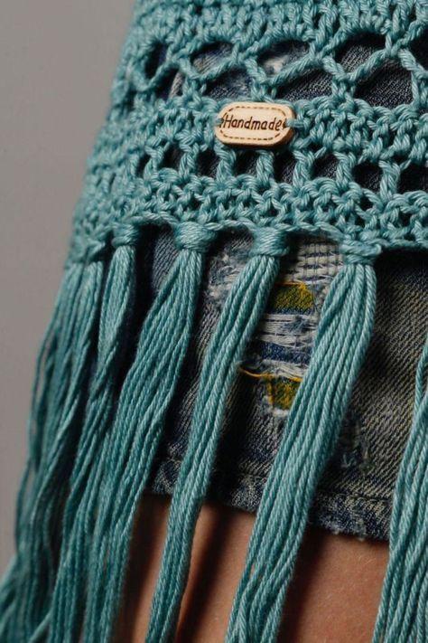 Dames Bohoibiza Vest Haken Haken Kleding Knit Crochet Crochet