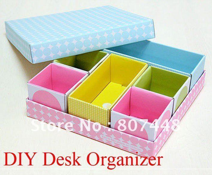 Diy Desk Organizer Paper Box Set Storage Cajas De Almacenamiento Escritorios Diy Organizacion Escritorio