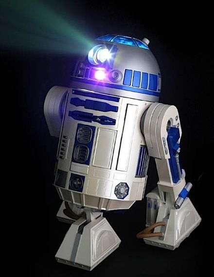 R2D2 movie projector.