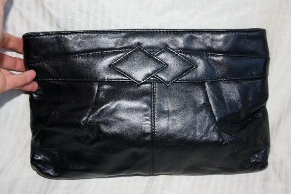 1980s Midnight Black Bechamel Purse by in2purses2010 on Etsy, $15.99
