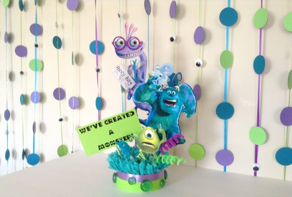 Check out this item in my Etsy shop https://www.etsy.com/listing/261961244/large-monsters-inc-baby-shower-garland