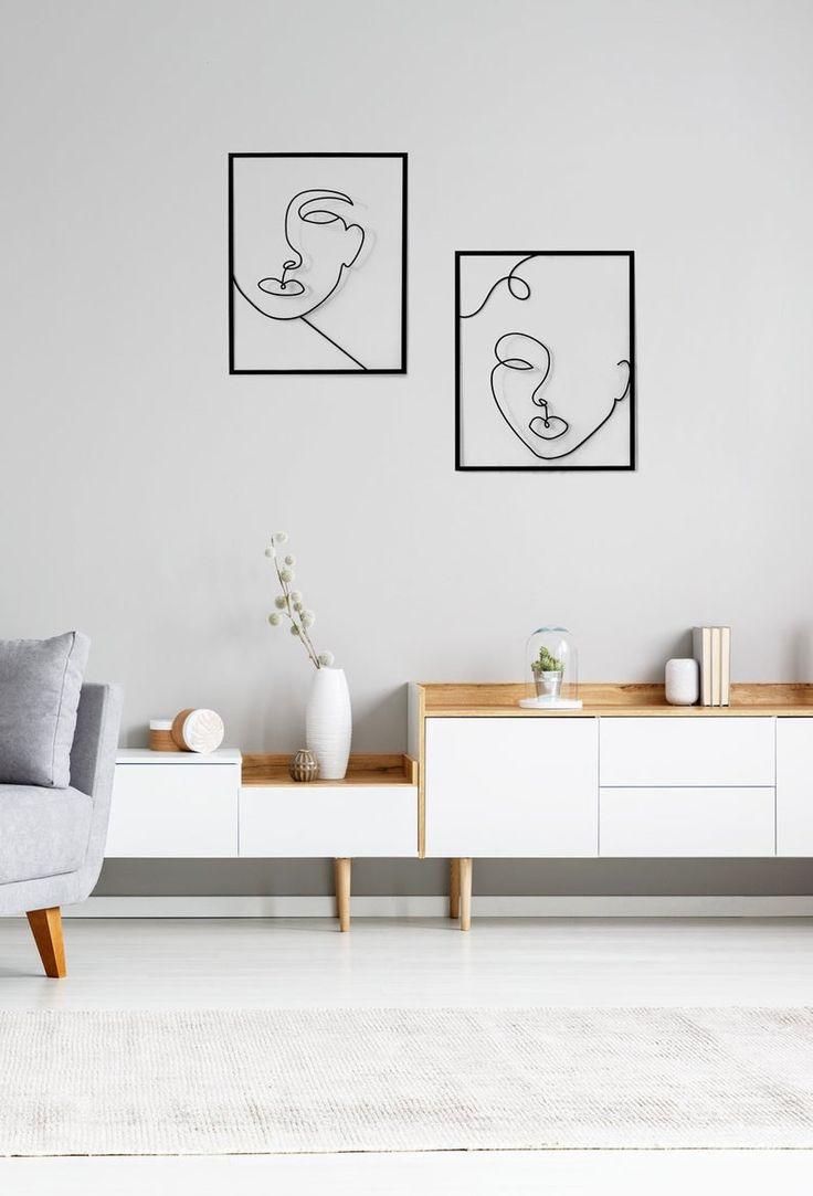 Minimalist Wall Art, Metal Home Decor, valentines day gift ...