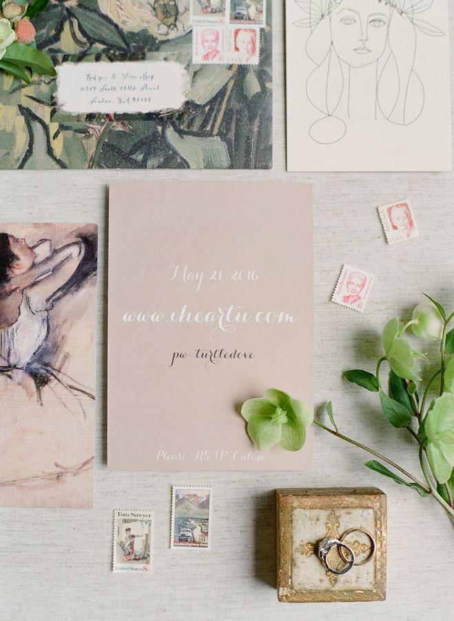 Modern spring wedding invitation suite: Photography: Jose Villa - http://josevilla.com/
