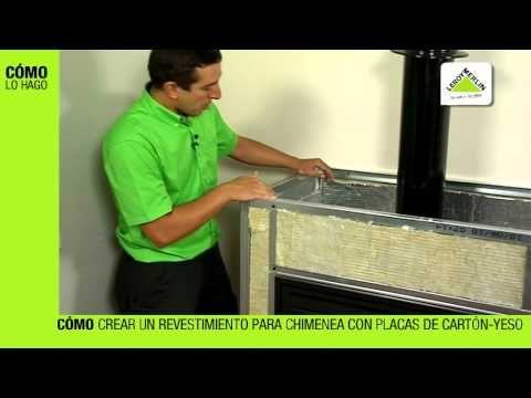 Cómo crear un revestimiento de chimenea (Leroy Merlin) - YouTube