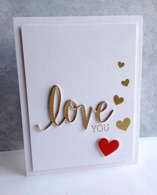 I'm in Haven: Gold Love You Hero Arts Stamp & Cuts LOVE Coordinating Stamp And Die Set