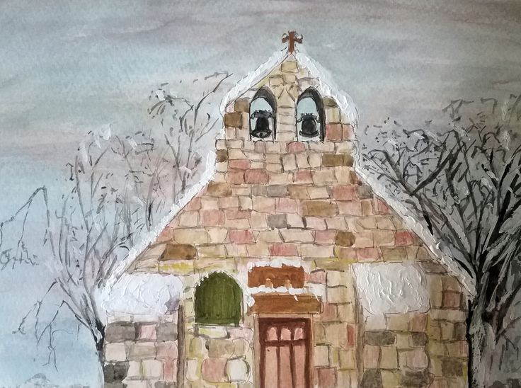 St Peters Church Thornaby  Watercolour painting  By Ruth