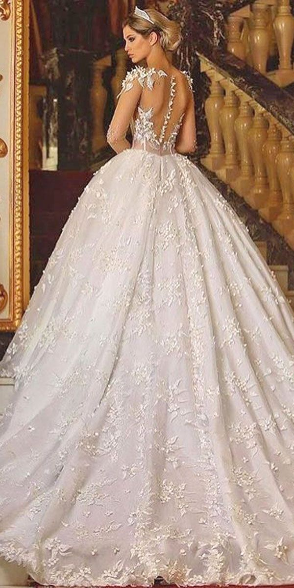 Ball Gown Wedding Dresses Fit For A Queen ❤ See more: http://www.weddingforward.com/ball-gown-wedding-dresses/ #weddings