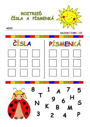 Písmenká a čísla