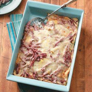 corned beef n cheese strata recipe from taste of home shared by - Cheese Strata Recipes Brunch
