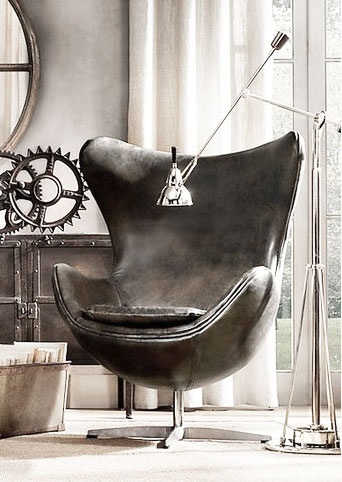 = leather chair