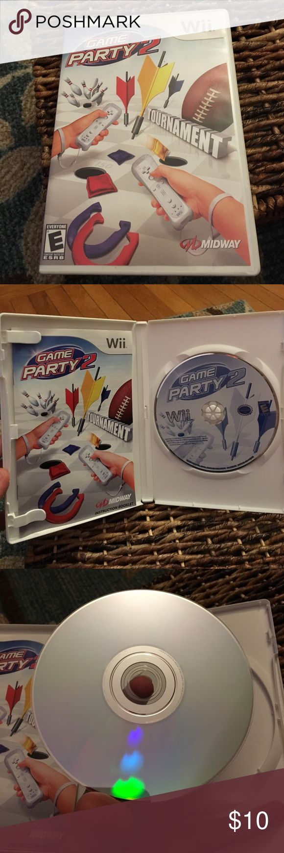 Wii Game Party 2 game Barely used wii game. No scratches. Includes bowling, darts, football, horseshoes, Trivia and more (11 games) Other