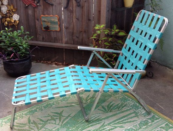 Turquoise Chaise Lounge Chair