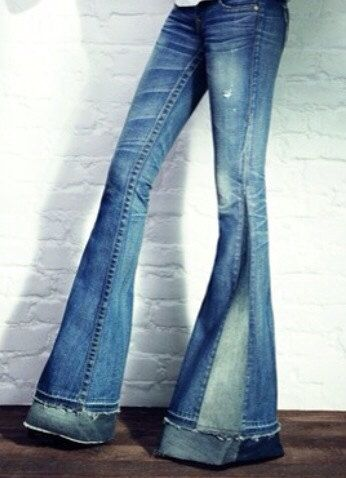 CUSTOM Denim Bell Bottom Jeans by PeacebyPieceCreation on Etsy, $40.00