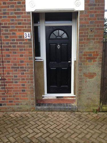 4 Panel Sunburst Composite Front Door in Black from Just Doors UK. & 81 best Composite Doors images on Pinterest