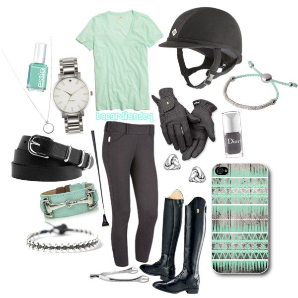 """Charcoal Mint Madness"" by bacardiandeq on Polyvore. Ogilvy Equestrian Approved! Equine, Half Pad, Saddle Pad, Helmet, Saddle, Fashion, Style, Comfort, Equipment, Tack, Horse, Pony, Gray, Chestnut, Bay, Black, Horse Show, Show Jumping, Equitation, Pony"
