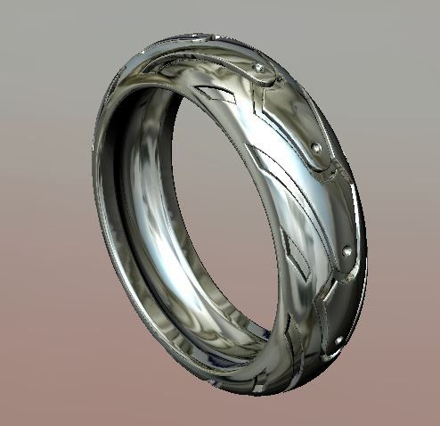 3Ds Max Jewellery Tire Ring - 3D Model