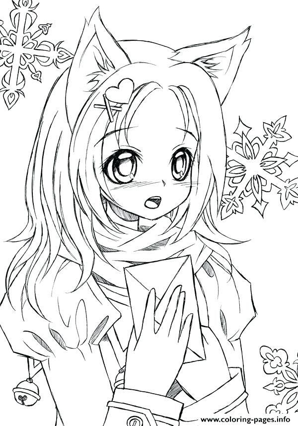 Cute Mermaid Coloring Pages Awesome Stock New Cute Anime Coloring