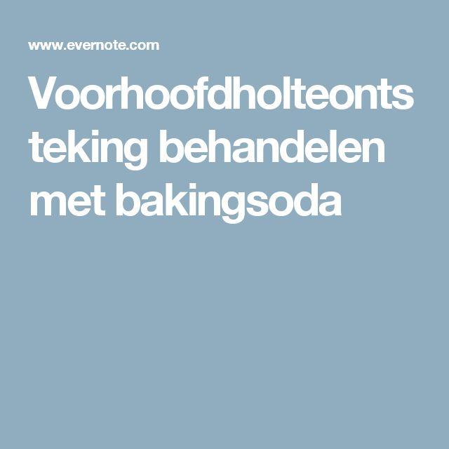 Voorhoofdholteontsteking behandelen met bakingsoda