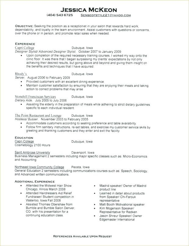Free Resume Templates For Receptionist Position Resume Examples Resume Template Free Resume Templates Resume Design Free