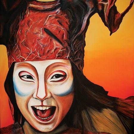 Elisa  Pettenon Vivant - 2013 Water soluble oils on canvas 72 x 72 cm