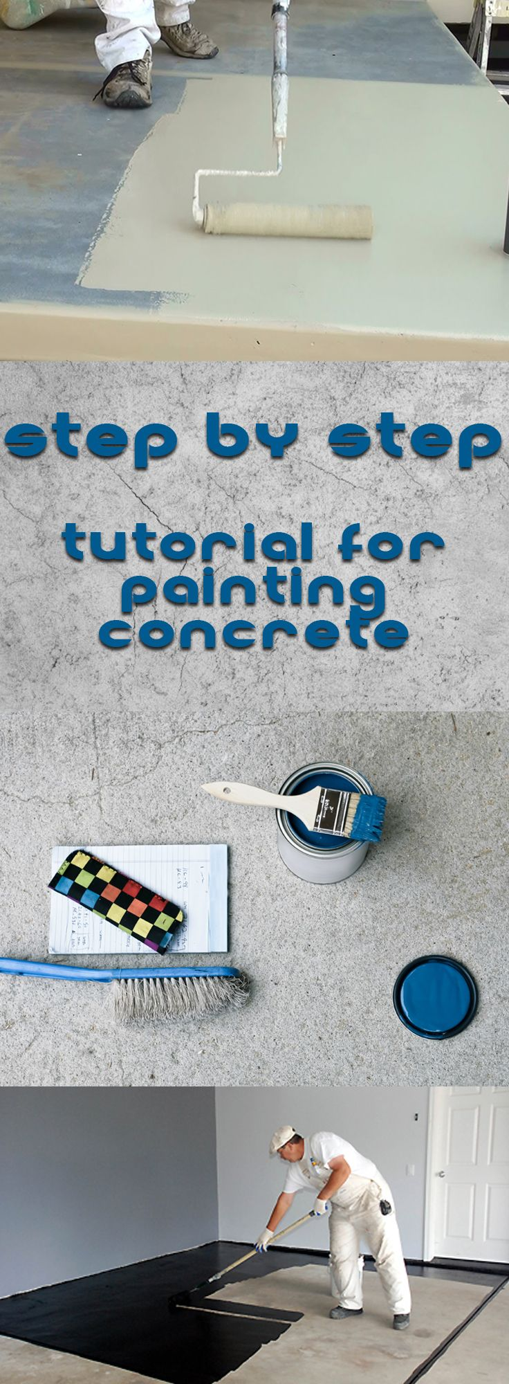 Step By Step Tutorial For Painting Concrete