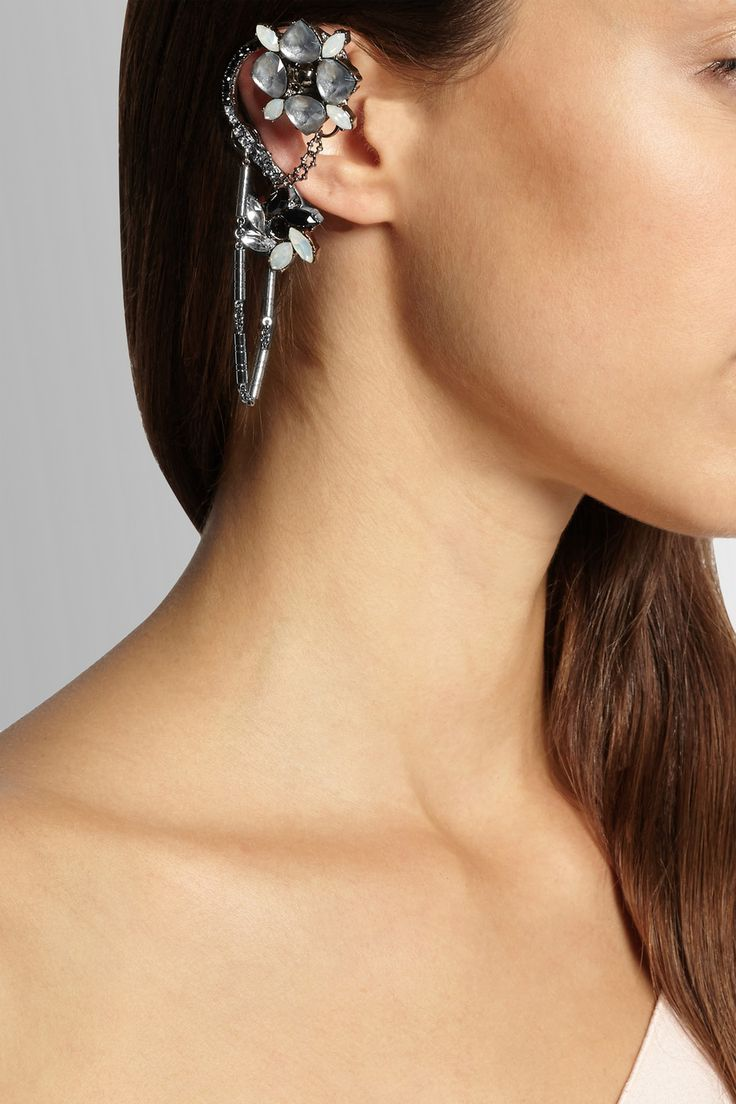 138 best jewelry ear cuffs wraps images on pinterest ear cuffs vickisarge adele palladium plated swarovski crystal ear cuff net a porter baditri Choice Image