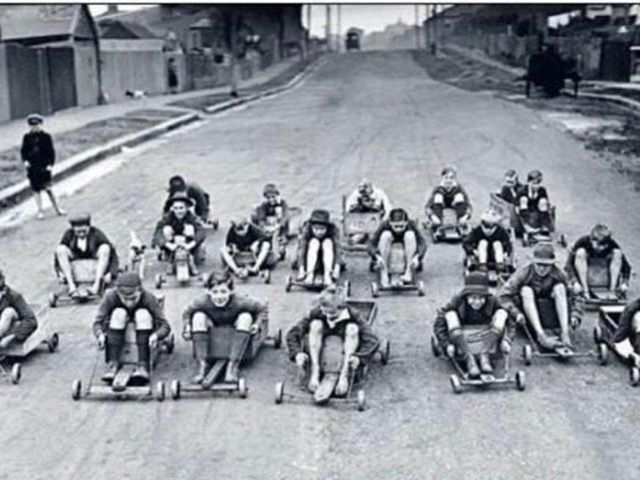 Billy Carts - 1950's Australia | Old photos, Good old, Go carts