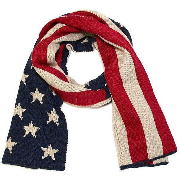 American Flag Heavy Knit Scarf 35 Liked On Polyvore Featuring Accessories Scarves American Flag Scarves American Flag Shawl Heavy Knit Knit Scarf Scarf