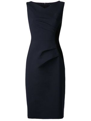 Shop Carolina Herrera gathered side panel dress.