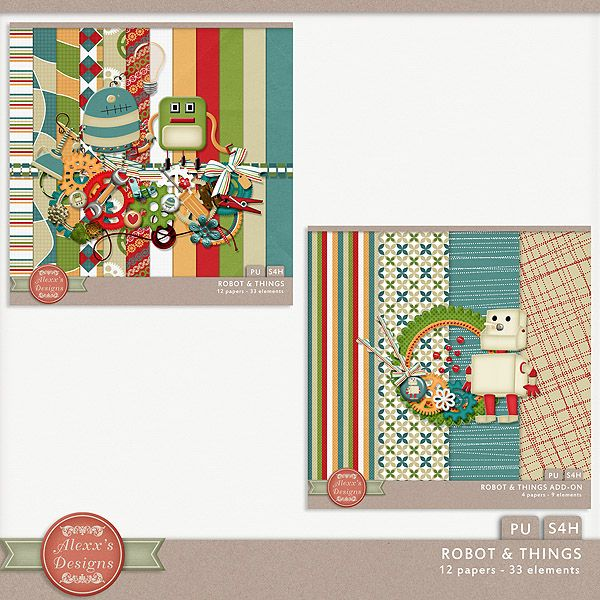 Robot & Things Bundle by Alexx's Designs