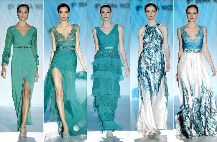 Resultado de imagen para modelos de vestidos color verde jade