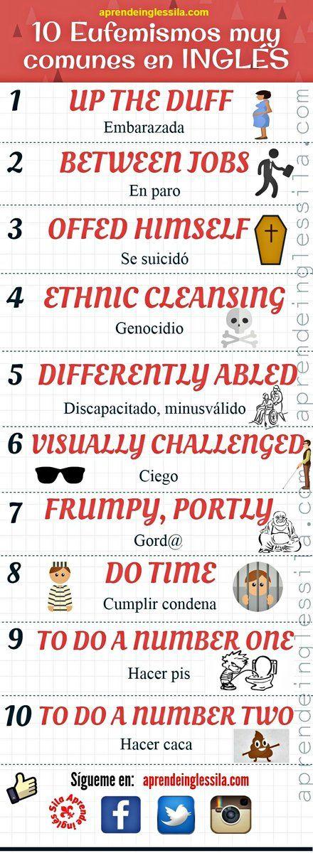Eufemismos comunes en inglés
